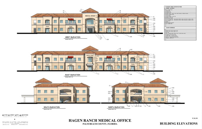 Hagen ranch mob oliver design group for Two story office building plans